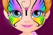 game Baby Barbie Hobbies Face Painting