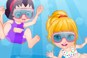 game Baby Barbie Swimming Accident