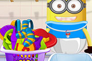game Baby Minion Washing Clothes