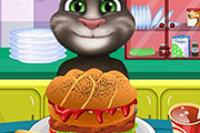 game Baby Tom Cooking Hamburger