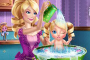 game Barbie Princess Baby Wash