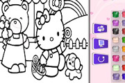 game Color Hello Kitty and Friends
