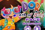 game Dora 4th of July Face Painting