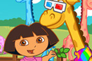 game Dora And Baby Giraffe Care
