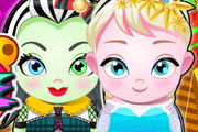 game Frozen Elsa and Monster Care