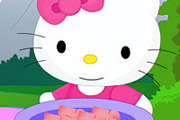 game Hello Kitty Cooking Touchdown Pizza