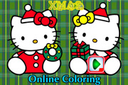 game Hello Kitty Xmas Coloring