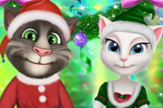 game New Year Party Talking Tom And Angela