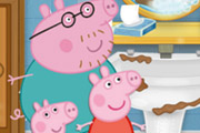 game Peppa Pig Cleaning Bathroom