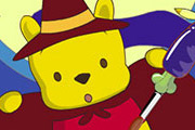 game Piglet And Winnie The Pooh Halloween Coloring