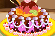 game Pou Christmas Cake