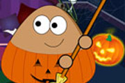 game Pou Halloween Cleanup