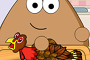 game Pou Thanksgiving Day Slacking
