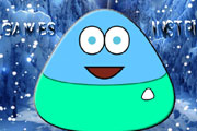 game Pou Winter Adventure