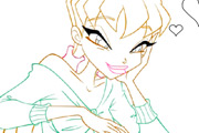 game Winx CLub Stella Coloring
